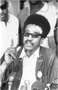 b&w photo of SNCC leader H. Rap Brown